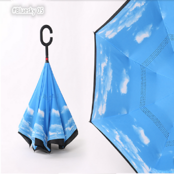 Payung Terbalik Gagang C Reverse Umbrella Free Bubble Packing