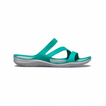 Sandal Olahraga Casual Flip Flop C r o c s Swiftwater Sandal W - Tropical Teal 2039983O2