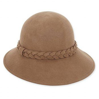 [macyskorea] Adora Womens Wool Felt Cloche Bucket Winter Hat with Braid Accent 443 (Camel)/15836205
