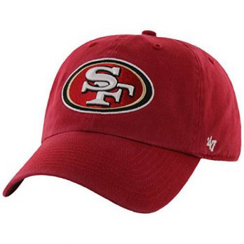 [macyskorea] `47 NFL San Francisco 49ers Clean Up Adjustable Hat, Red, One Size Fits All F/15887978