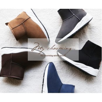 Paperplanes★Free Shipping★Korean Style Women Unisex Winter Fur Boots Shoes Comfy Casual Winter Shoes PP1426
