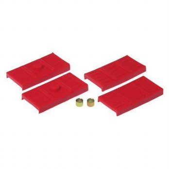 [macyskorea] Prothane 7-1707 Red Rear Upper and Lower Mono Leaf Spring Pad Kit/14123639