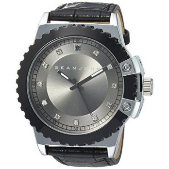 [macyskorea] Sean John Mens Diamond Quartz Metal Casual Watch, Color:Black (Model: 1003088/16145182