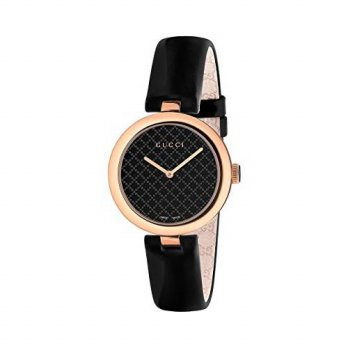 [macyskorea] Gucci Womens YA141401 Diamantissima Analog Display Swiss Quartz Black Watch/16134347