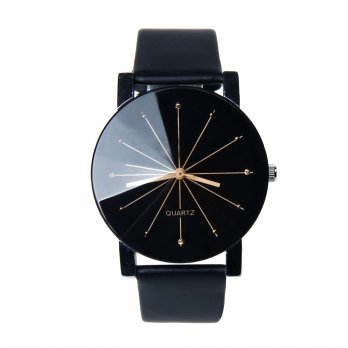 Jam Tangan Pria & Wanita Strap PU Leather | Ovila Fashion World Watch | Jam Tangan Fashion