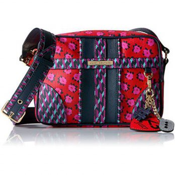 [macyskorea] Juicy Couture Leather Print Blocking Corssbody Bag, Red Square Odessa Floral/15834390