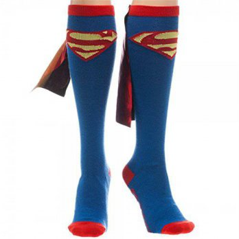 [macyskorea] BioWorld Superman Red & Yellow Logo Blue Knee High Socks with Red Shiny Cape /15834358