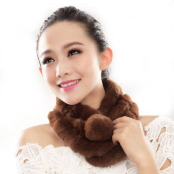 [macyskorea] URSFUR Warm Womens Rex Rabbit Fur Scarves Scarf Multicolor (Camel)/15834441