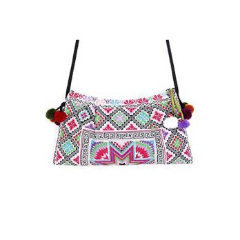 [macyskorea] Ethnic Lanna ETHNIC LANNA Handcrafted Cross Body Purse with Pink Hmong Cross /15834588