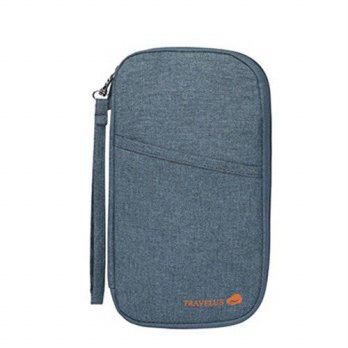 [macyskorea] ZOONAI Waterproof Hands Strap Travel Clutch Bag Passport Holder Wallet (Gray)/16002258