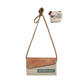 [macyskorea] Mona B Dreamers Blvd Upcycled Canvas Crossbody Bag M-3924 with Coin Purse/16002585