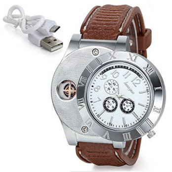 [macyskorea] LW-Shop Sporty Quartz Watch Wristwatch with USB Electronic Rechargeable Windp/16133511