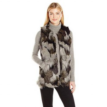 [macyskorea] Steve Madden Womens Shades Of Grey Faux Fur Long Vest, XS/S/16002754