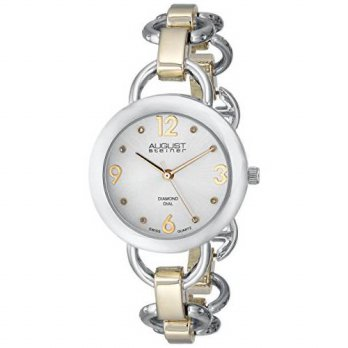 [macyskorea] August Steiner Womens AS8132TTG Two-Tone Watch with Link Bracelet/15712471