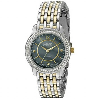 [macyskorea] August Steiner Womens AS8027TTGB Diamond & Crystal Accented Gray Mother of Pe/15778823