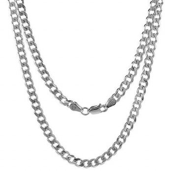 [macyskorea] Sabrina Silver Sterling Silver Cuban Curb Link Chain Necklace 4.5mm Beveled E/16090647