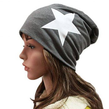 [macyskorea] Thenice Womens Winter Cotton Beanie Cap Thin Hip-hop Star Hat (Dark grey)/14761740