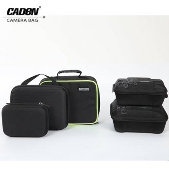 [globalbuy] Caden Camera Storage Cases Black Pouch Fashion Waterproof polyester Hard Bag F/3688600