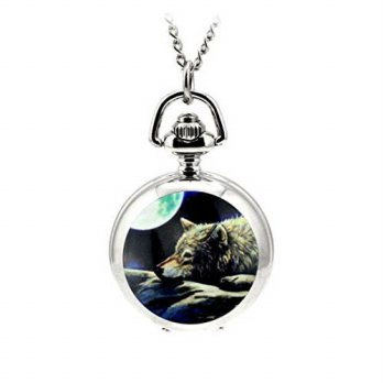 [macyskorea] WZC Small Size Cute Wolf Quartz Movement Pocket Watch/15779257