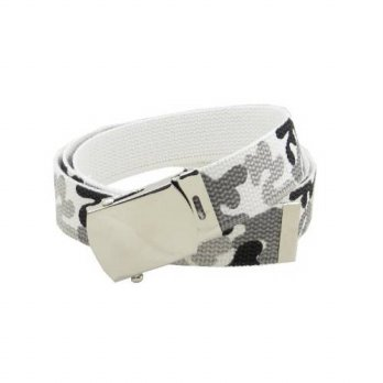 [macyskorea] BC Belts Camouflage Canvas Web Belt Military Style Chrome Buckle and Tip 50 L/14727583