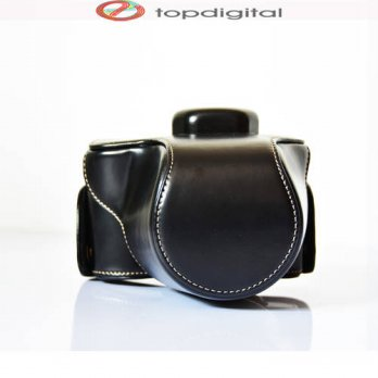 [globalbuy] Vintage Leather Camera Case Bag for OLYMPUS EM10 E-M10 14-42mm Digital DSLR Ca/3688574