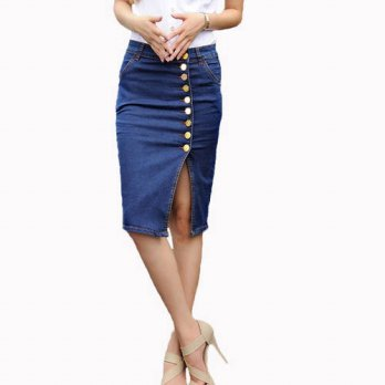 [globalbuy] Hot Design 2016 Summer Sexy Women Fashion Denim Jeans Pencil Skirts Sexy Singl/4198131