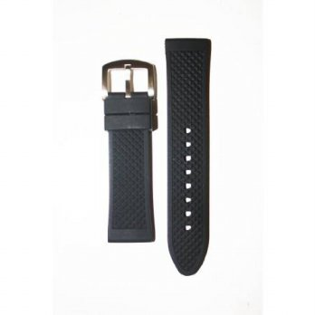 [macyskorea] Toscana 20mm Heavy Black Rubber Silicone Watchband with Classic Design/15779013