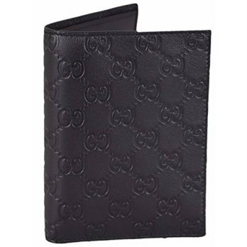 [macyskorea] Gucci Mens Black Leather GG Guccissima Passport Holder Bifold Wallet/14726488