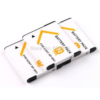 [globalbuy] 3PC 3.7V 650mAh NP-BN1 rechargeable Battery NP-BN NP BN1 Camera batteries for /3688473