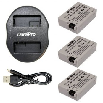 [globalbuy] 3 x DuraPro LP-E8 LPE8 Camera Battery + Dual Charger For Canon EOS 550D 600D 6/3688451