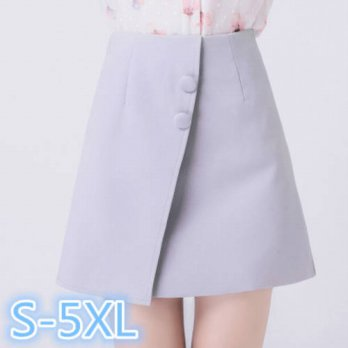 [globalbuy] S-XL 2XL 3XL 4XL 5XL plus zie 2016 summer womens high waist mini skirts a-line/4198001