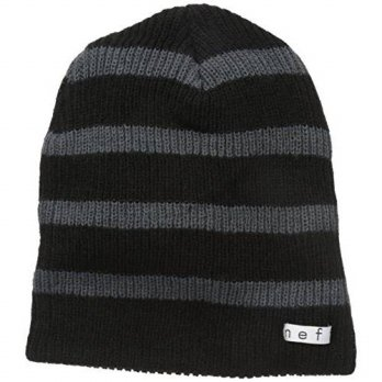 [macyskorea] NEFF neff Mens Daily Stripe Beanie, Black/Charcoal, One Size/14681035
