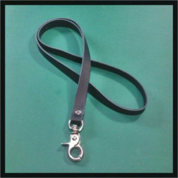 Tali ID card kulit sapi asli | Leather lanyard