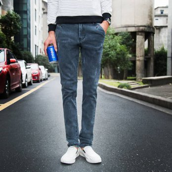 [globalbuy] 2016 New Summer Famous Brand Mens Jeans Fashion Skinny Jeans Homme High Qualit/4203595