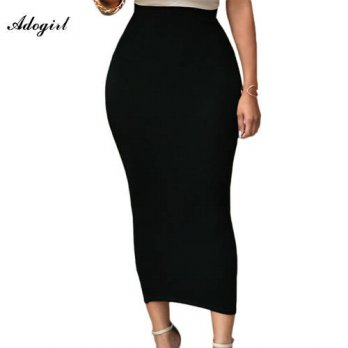 [globalbuy] Adogirl 2016 Women Autumn Pencil Skirt Office Lady Bodycon Slim Vintage Midi S/4197997