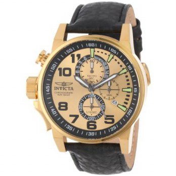 [macyskorea] Invicta Mens 14475 I-Force Chronograph Gold Dial Black Leather Watch/15779971
