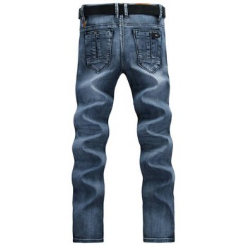 [globalbuy] Mens clothing 2016 spring new arrival male fashion blue water wash modern slim/4203619