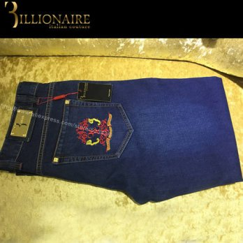 [globalbuy] Billionaire italian couture mens jeans2016 high quality embroidery mens jeans/4203591