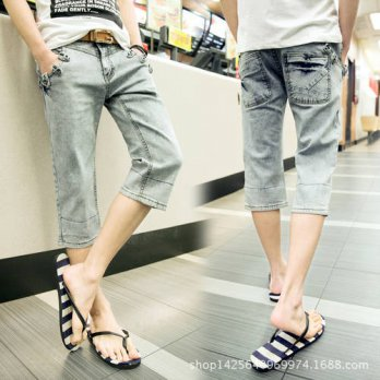 [globalbuy] 2016 Spring and summer young students blue jeans denim shorts Korean Slim retr/4203589