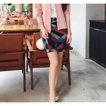 [globalbuy] 2016 fall and winter clothes female models spell skirts color woolen skirts sw/4197950