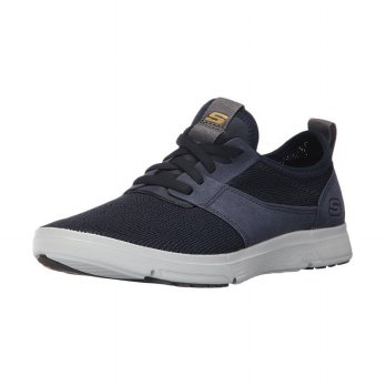 Sepatu Olahraga Lari Gym Fitness Sneakers Skechers Men's Moogen Holder - Navy 65149NVY