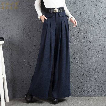 [globalbuy] 2016 autumn and winter Fashion casual plus size loose high waist female women /4197678