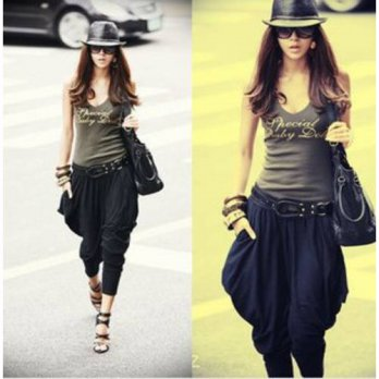 [globalbuy] Women big casual stylish narrow pants bloomers harem pants carrot pants/4197677