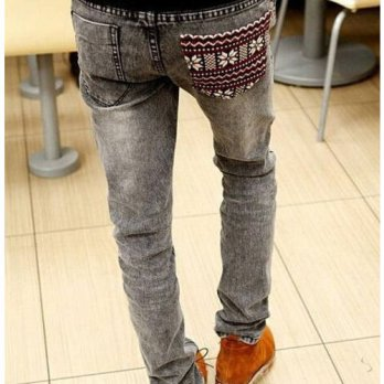 [globalbuy] 2016 New Arrival None Zipper Fly Slim Mid Softener Pencil Pants Lightweight Fu/4203386
