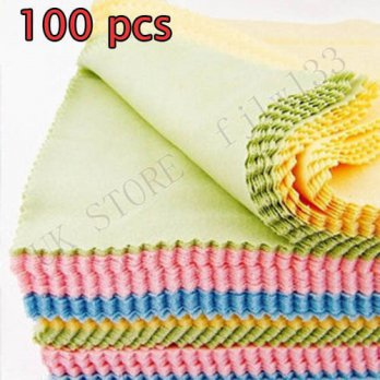 [globalbuy] 100 GUARANTEE 100 Microfiber Camera Lens Eyeglass Cleaning Cloths for Lens Cle/3688245
