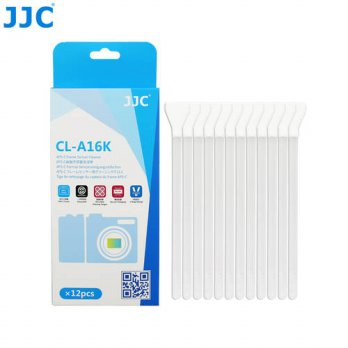 [globalbuy] JJC CL-A16K V Shape Design Cleaning Tongue16mm Width 12 PCS Sensor Cleaning Ro/3688244
