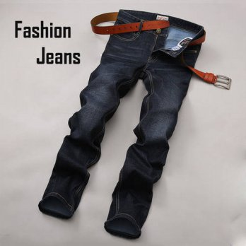 [globalbuy] New Arrival Autumn Winter 2016 Mens Brand Thick Jeans Mens Thickening Straight/4203272