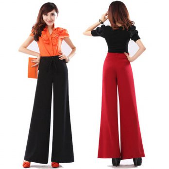 [globalbuy] 2016 Spring and summer plus size culottes mm boot cut wide leg pants culottes /4197545