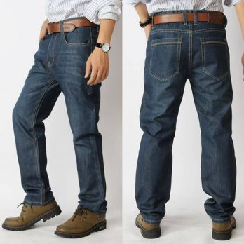 [globalbuy] Mens jeans big size fertilizer to increase mens waist straight jeans size 28-5/4203239