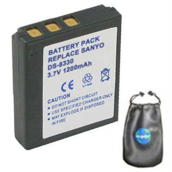 [macyskorea] Amsahr Digital Replacement Camera and Camcorder Battery for Sanyo DS-8330, DS/16074751